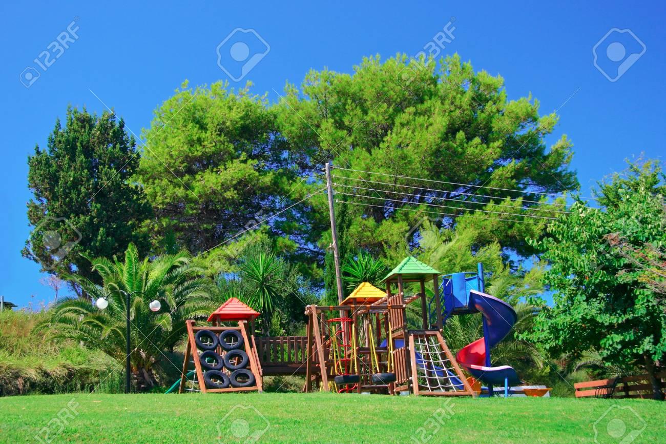 Children�s playground in an amusement park Stock Photo - 586574
