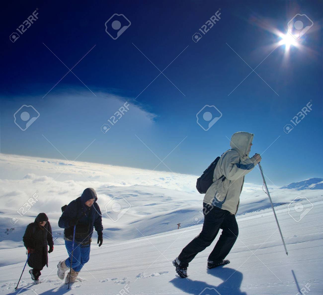 Alpine expedition climbing Mt. Sar Planina in Macedonia Stock Photo - 1406356