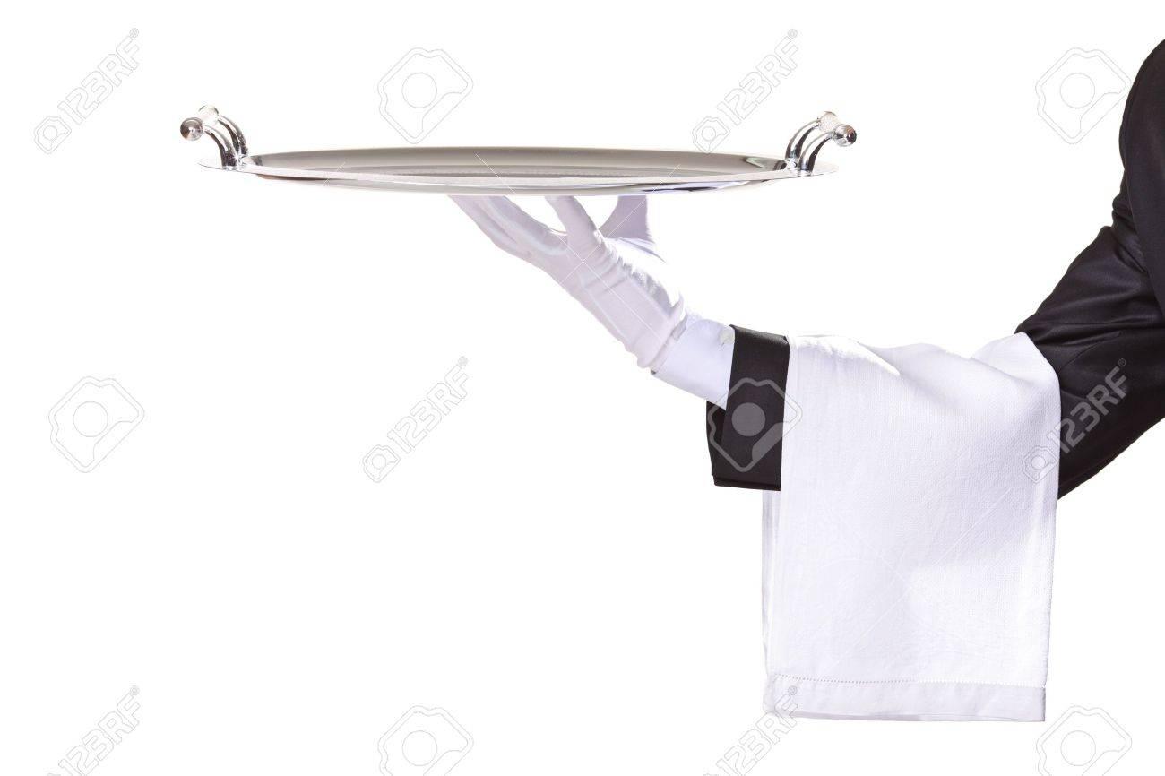Waiter isolated on white Stock Photo - 5916713