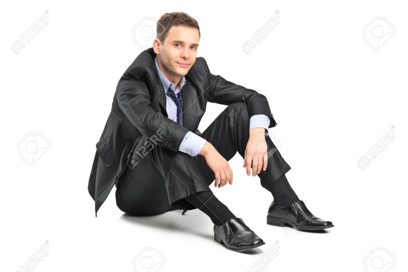A disappointed businessman isolated against white background Stock Photo - 11744367