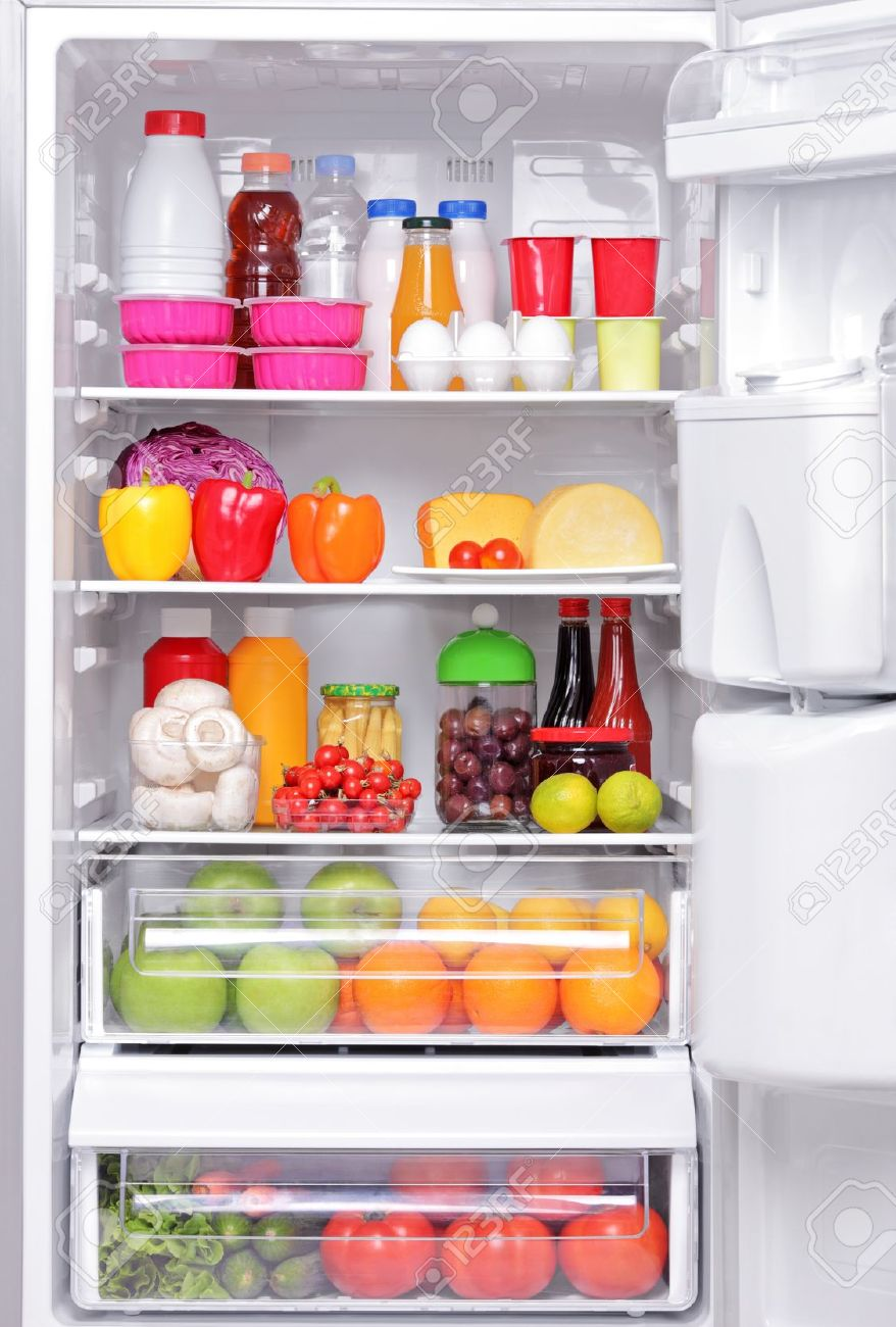 A fridge full of healthy products Stock Photo - 16960768