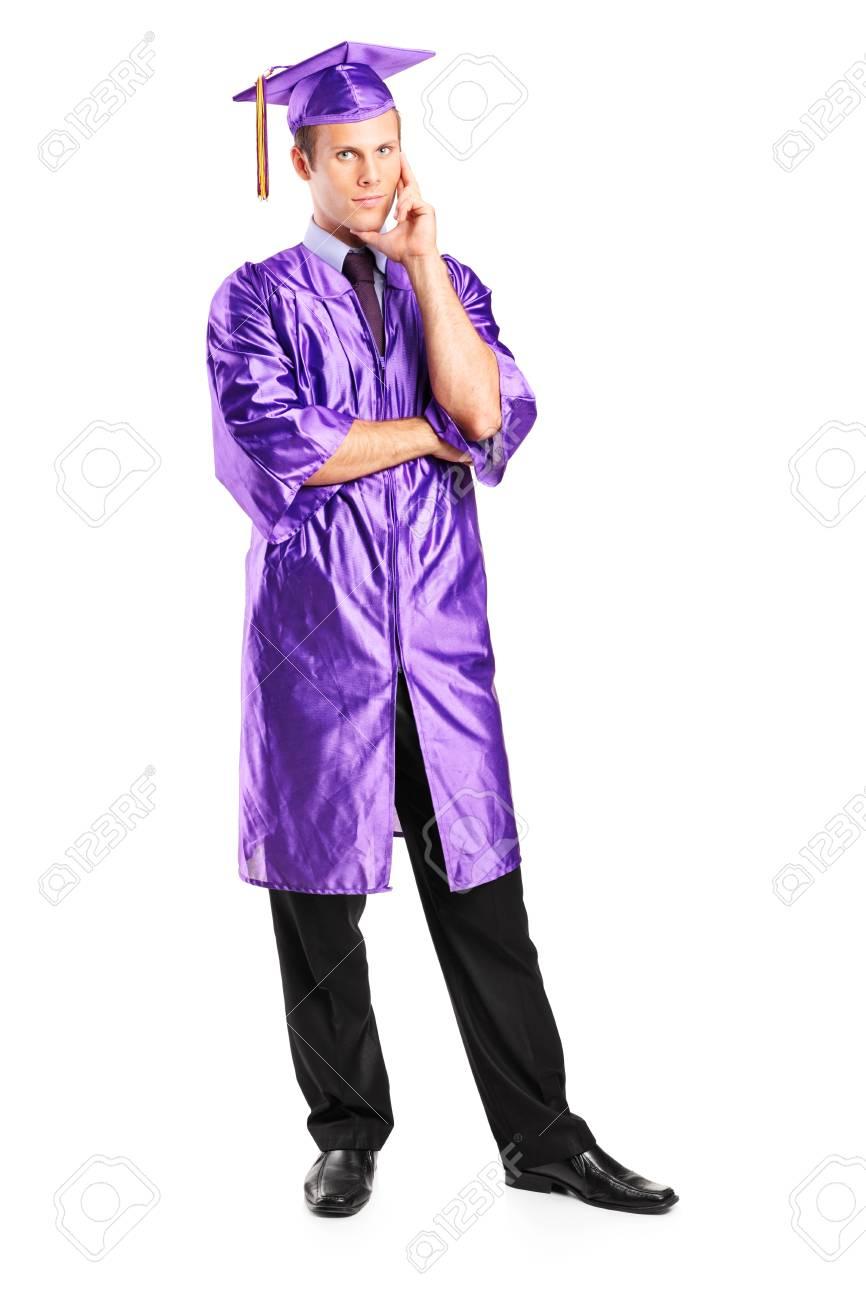 Retrato De Cuerpo Entero De Un Hombre Pensativo En Vestido De La ...