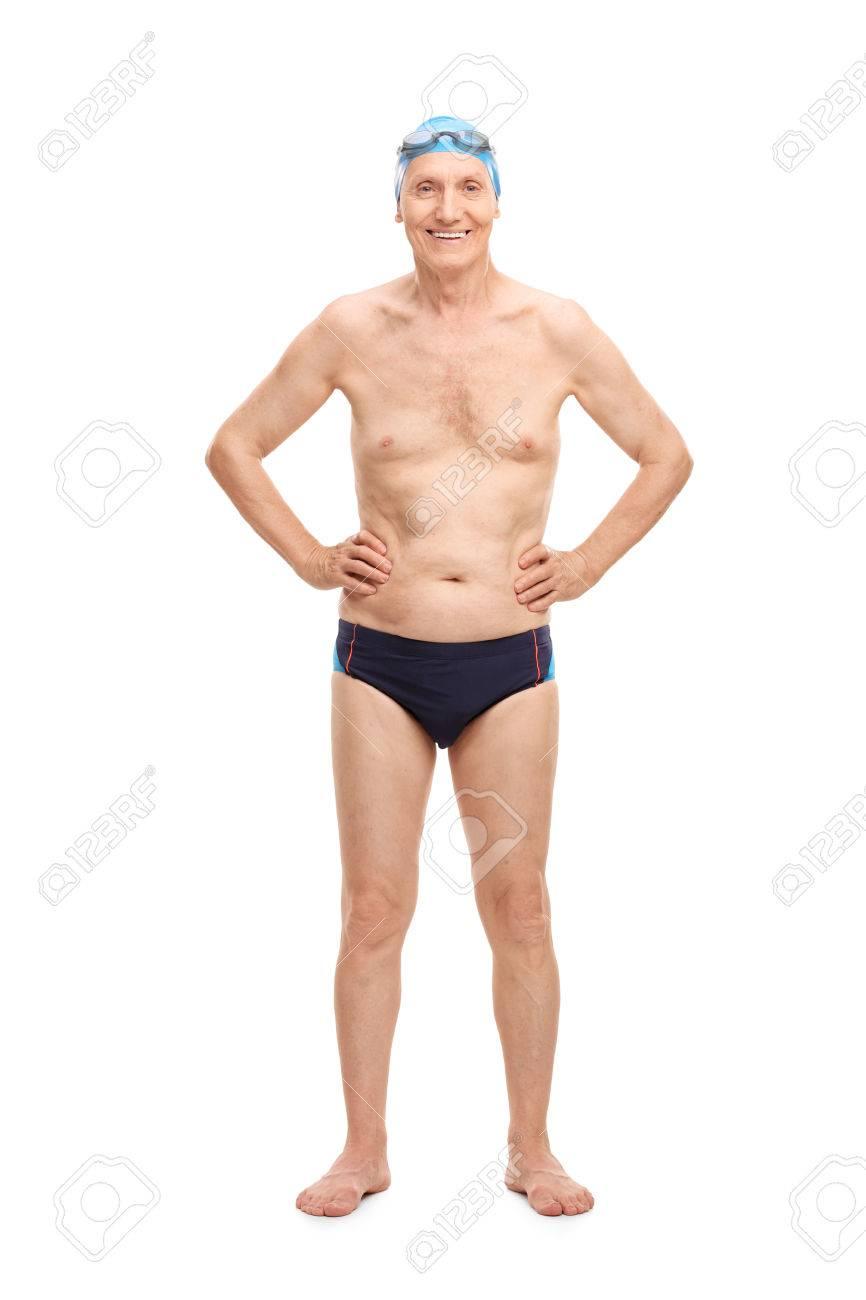 Retrato De Cuerpo Entero De Una Persona Mayor Sin Camisa En Traje De