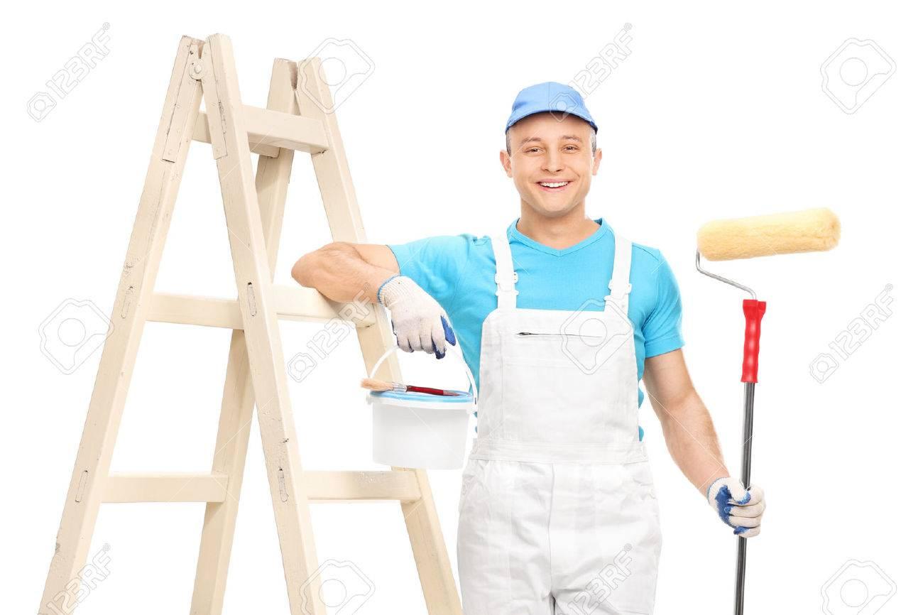 Jumpsuit Holding a Paint