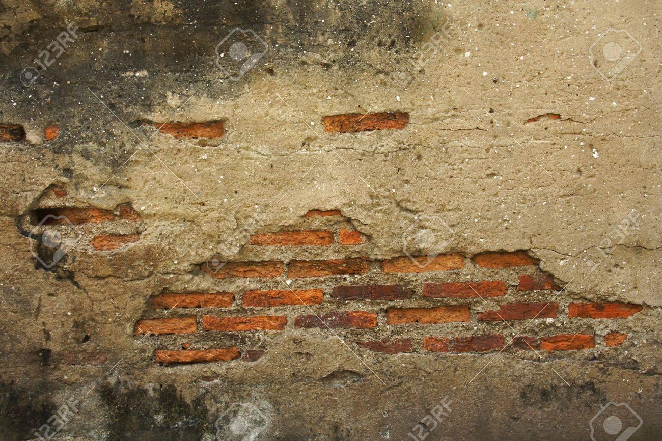 Texture of Break the old brick walls inside Stock Photo - 16261473