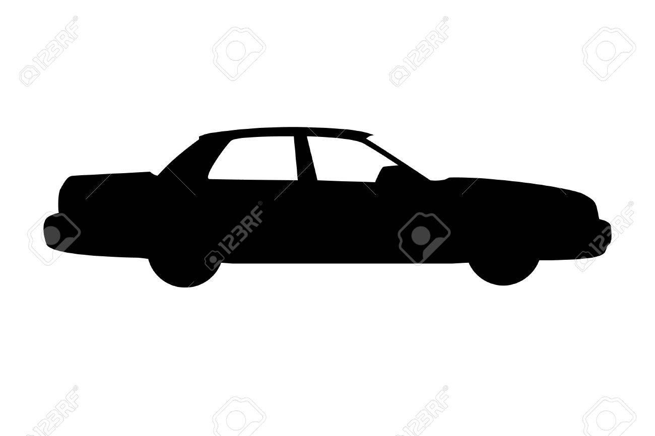 City car outline Stock Vector - 11142014