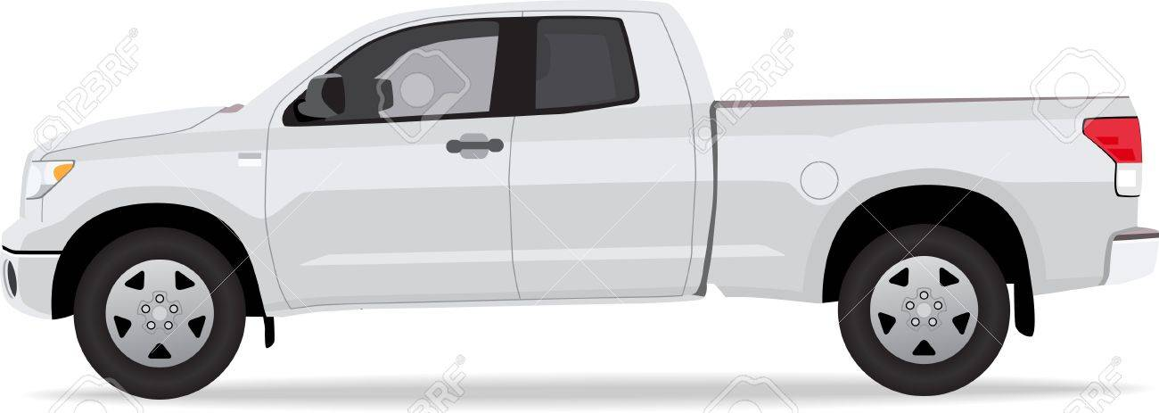 Pick-up truck isolated on white background Stock Vector - 12897665