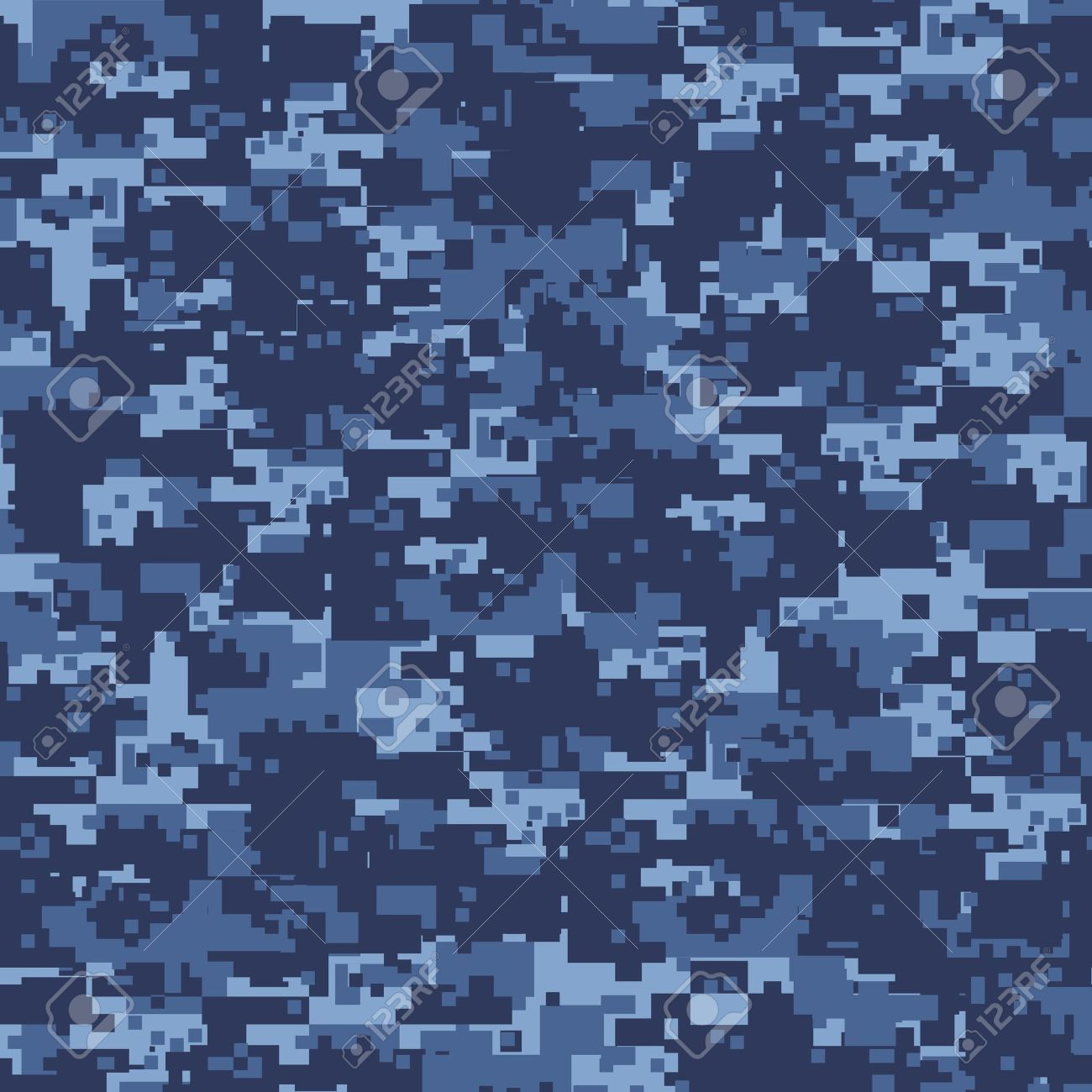 b0d40324ad2 Military blue camouflage seamless pattern