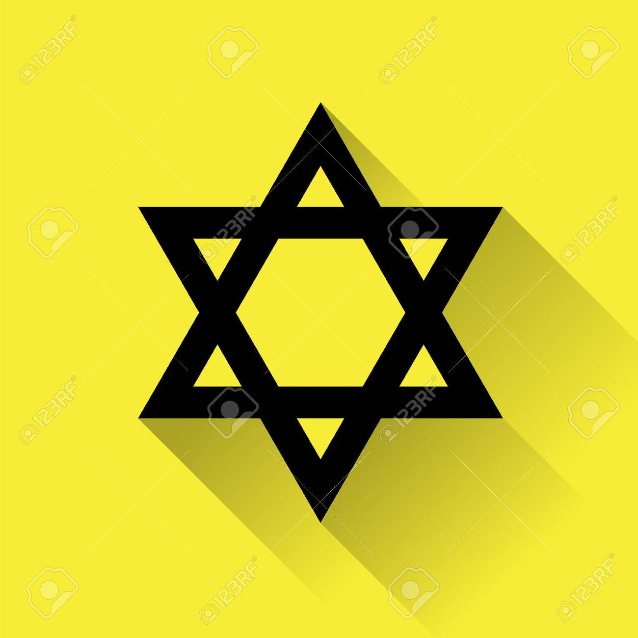 Star of david icon for web flat design on yellow background star of david icon for web flat design on yellow background stock vector biocorpaavc Choice Image