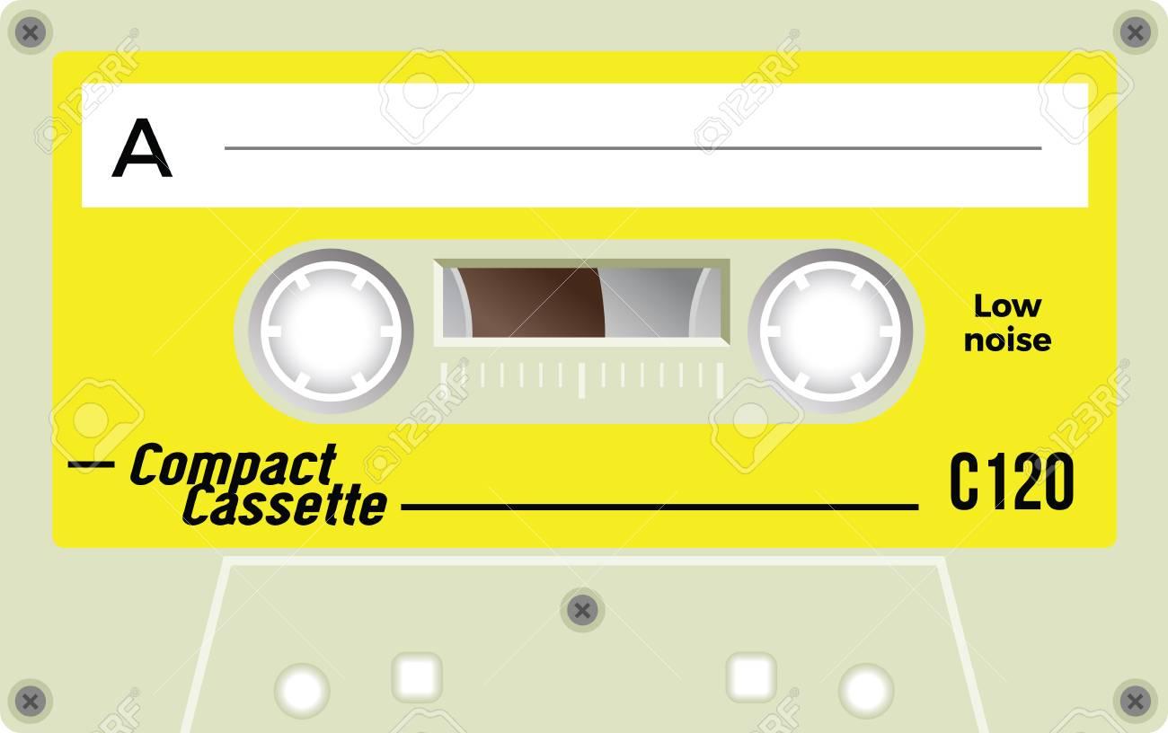 レトロ プラスチック カセット音楽カセットカセット テープ白い