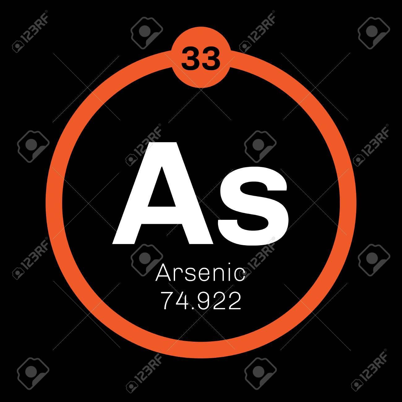 Elemento qumico arsnico el arsnico es un metaloide icono de elemento qumico arsnico el arsnico es un metaloide icono de color con el nmero urtaz Gallery