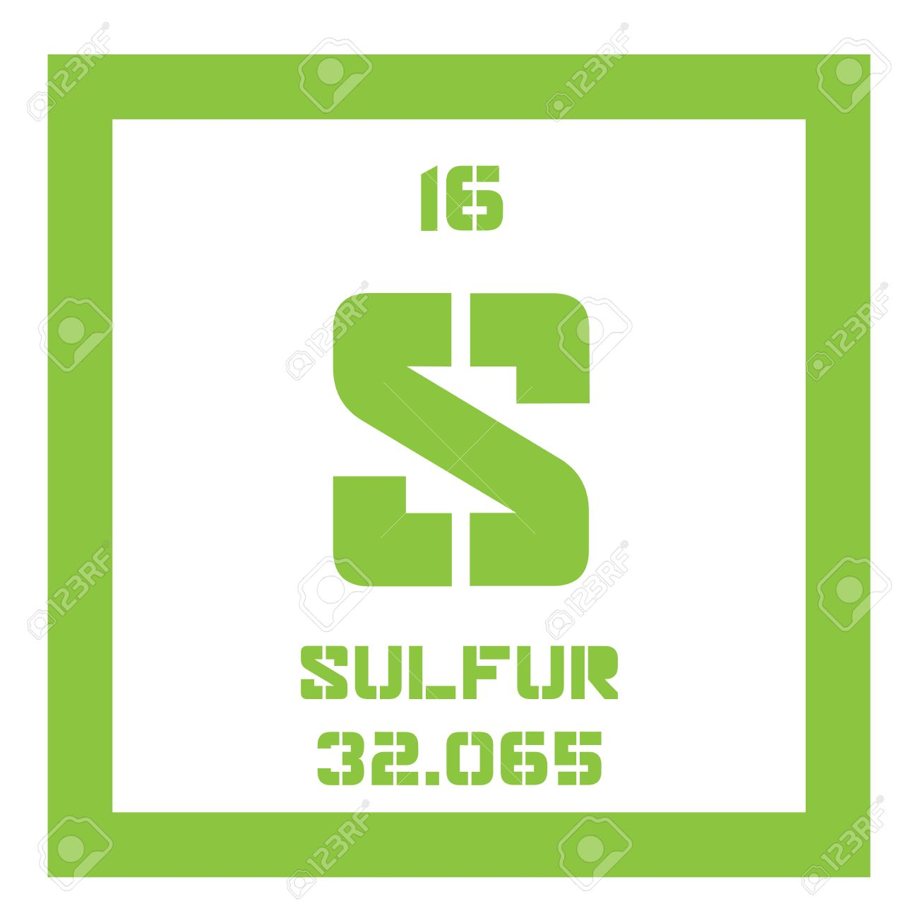 Sulfur chemical element abundant non metal element colored sulfur chemical element abundant non metal element colored icon with atomic number and urtaz Image collections