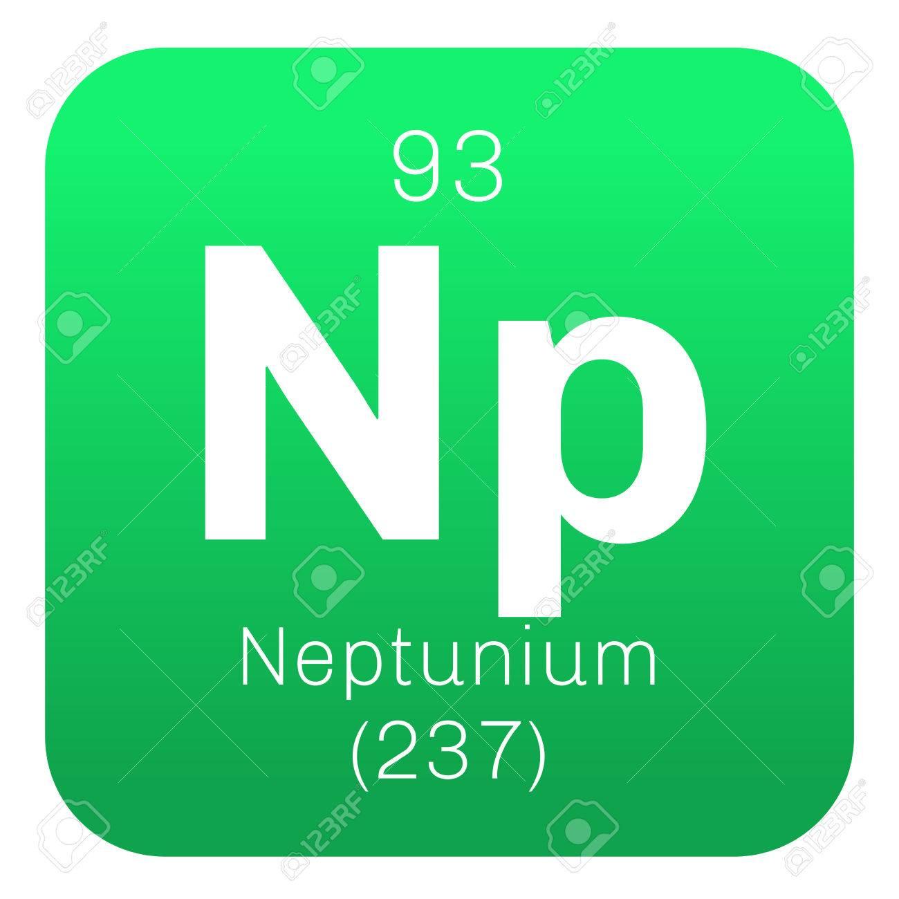 Elemento qumico neptunio elemento sinttico icono de color con el elemento qumico neptunio elemento sinttico icono de color con el nmero atmico y el urtaz Choice Image