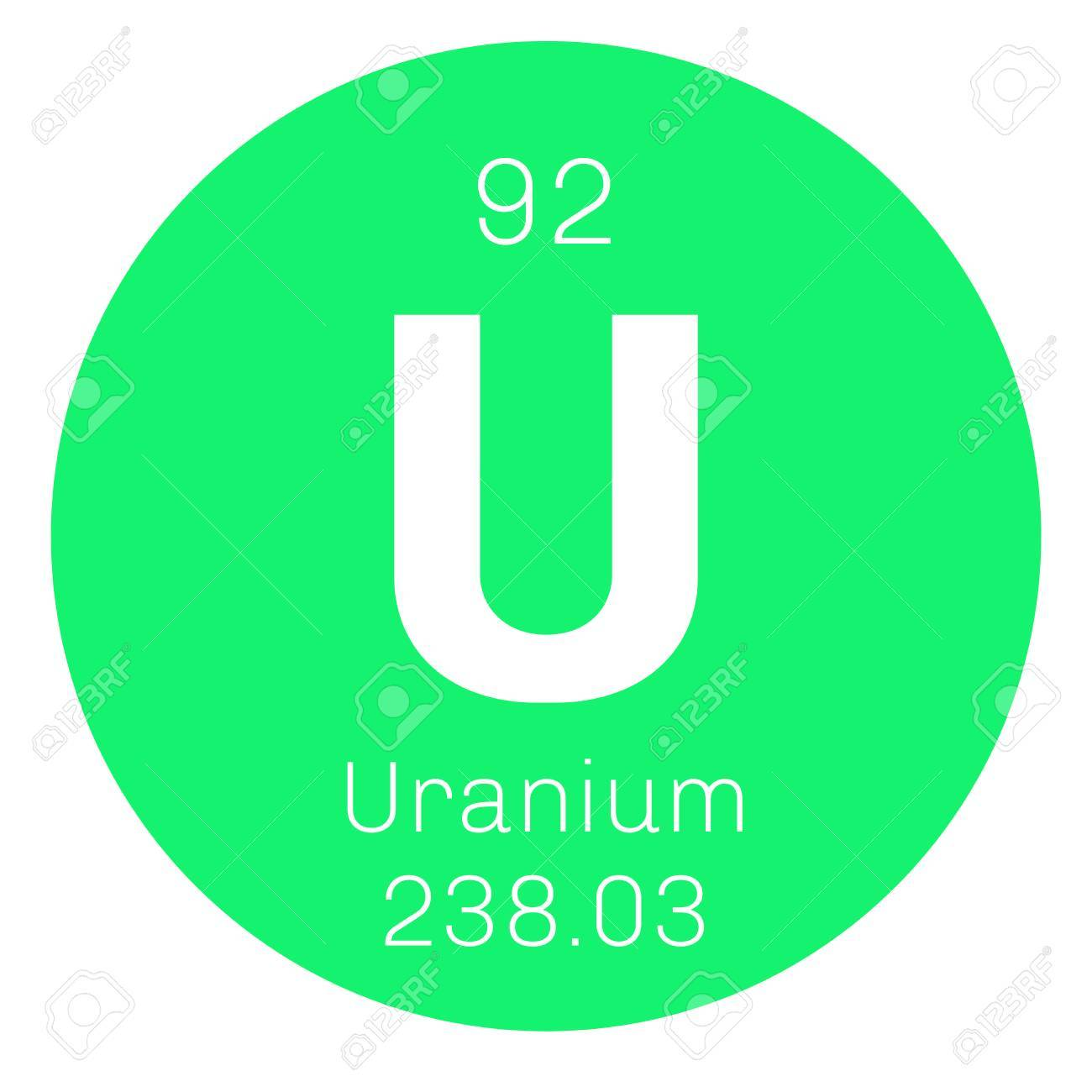 Uranium chemical element uranium is weakly radioactive metal chemical element of periodic table uranium chemical element uranium is weakly radioactive metal colored icon with atomic number and urtaz Image collections