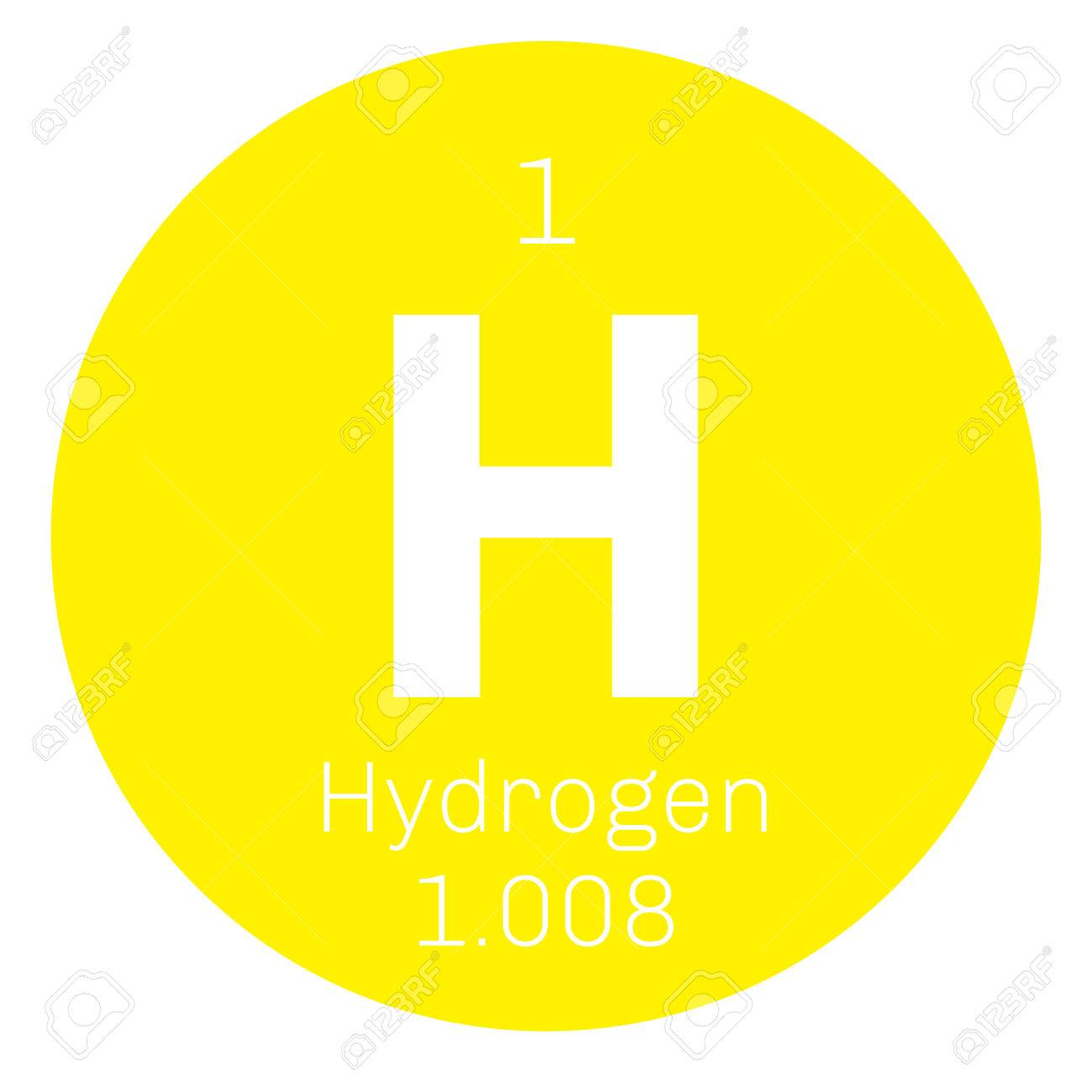 Hydrogen chemical element the lightest element on the periodic hydrogen chemical element the lightest element on the periodic table colored icon with atomic urtaz Gallery