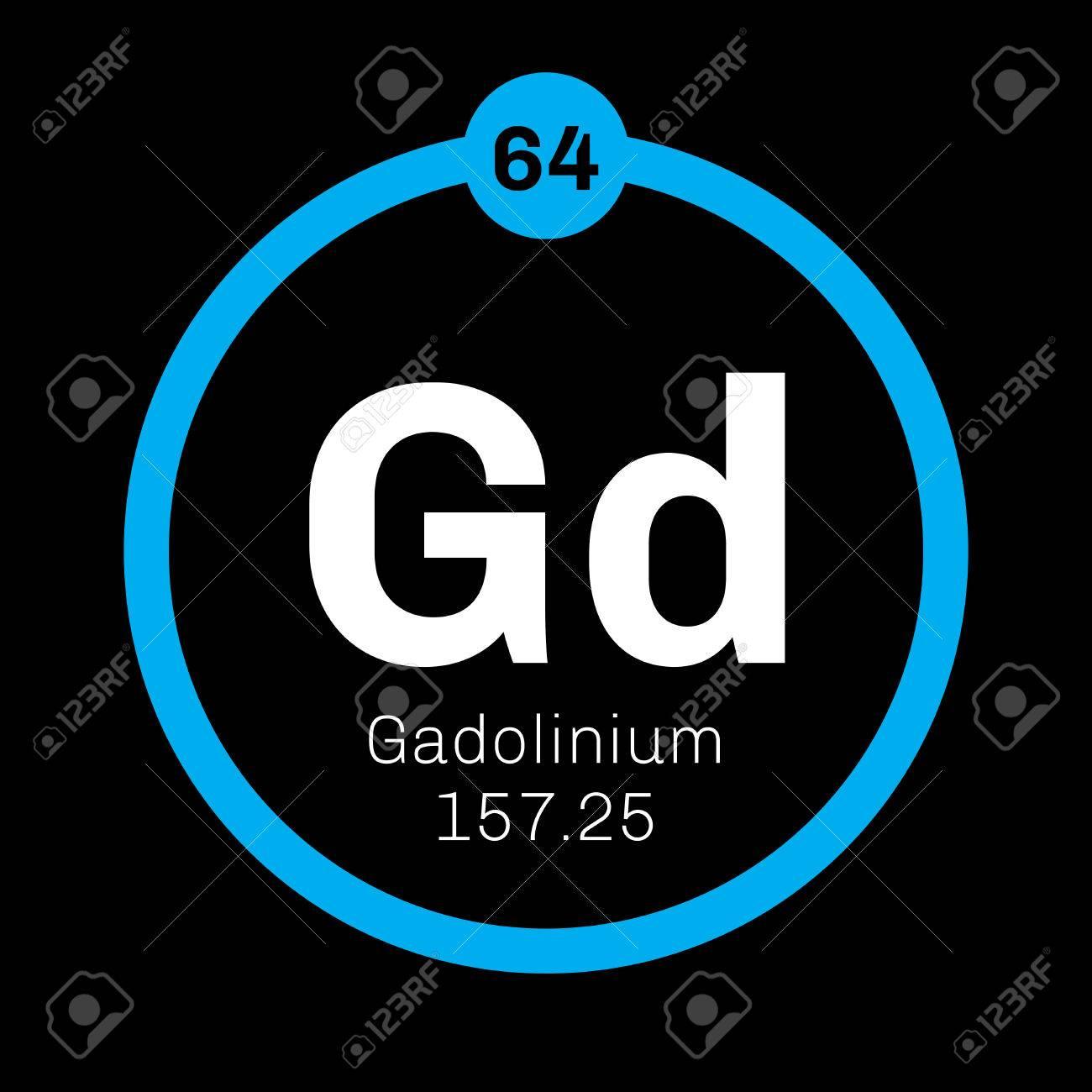 Elemento qumico de gadolinio metal raro icono de color con el elemento qumico de gadolinio metal raro icono de color con el nmero atmico y urtaz Gallery