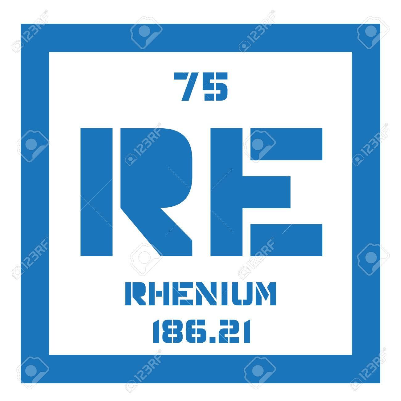 Il renio elemento chimico uno degli elementi pi rari della terra uno degli elementi pi rari della terra icona colorata con numero atomico e peso atomico elemento chimico della tavola periodica urtaz Images