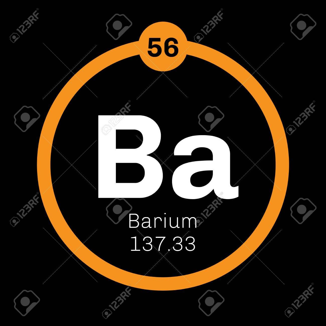 Barium chemical element an alkaline earth metal colored icon barium chemical element an alkaline earth metal colored icon with atomic number and atomic urtaz Gallery