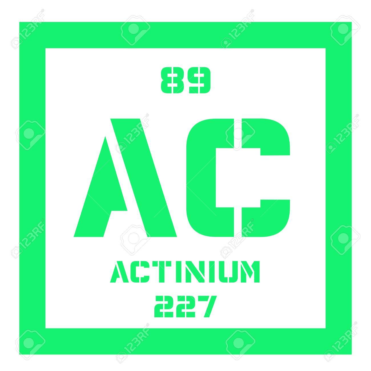 アクチニウム元素記号。放射性元...