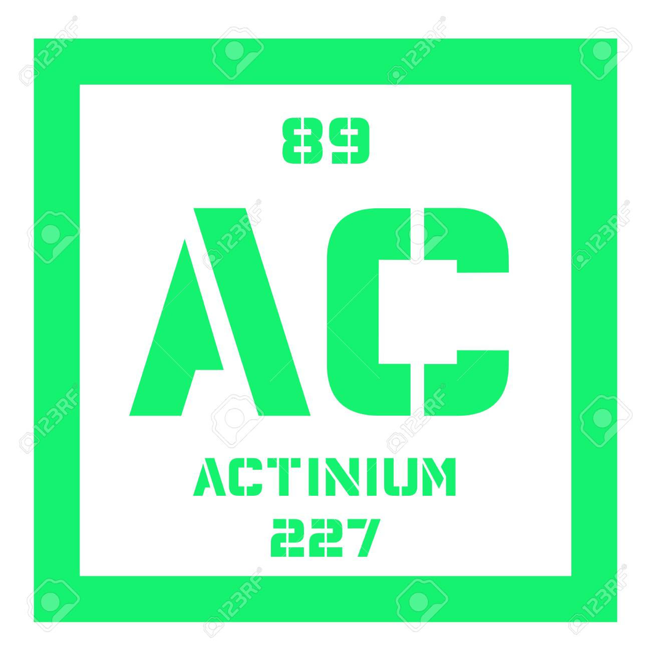 Actinium chemical element radioactive chemical element colored actinium chemical element radioactive chemical element colored icon with atomic number and atomic weight urtaz Images