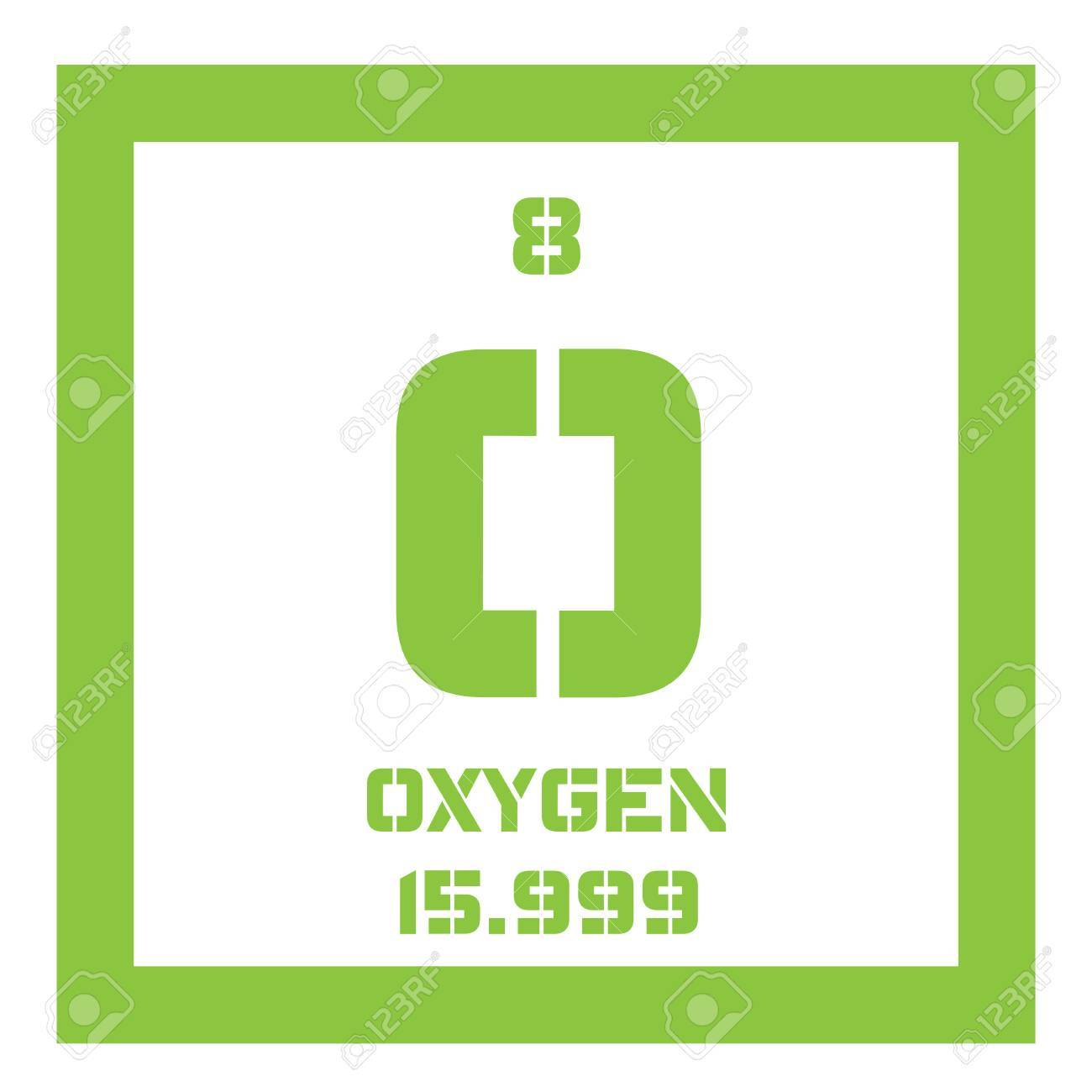 Oxygen chemical element highly reactive nonmetal and oxidizing oxygen chemical element highly reactive nonmetal and oxidizing agent colored icon with atomic number urtaz Choice Image