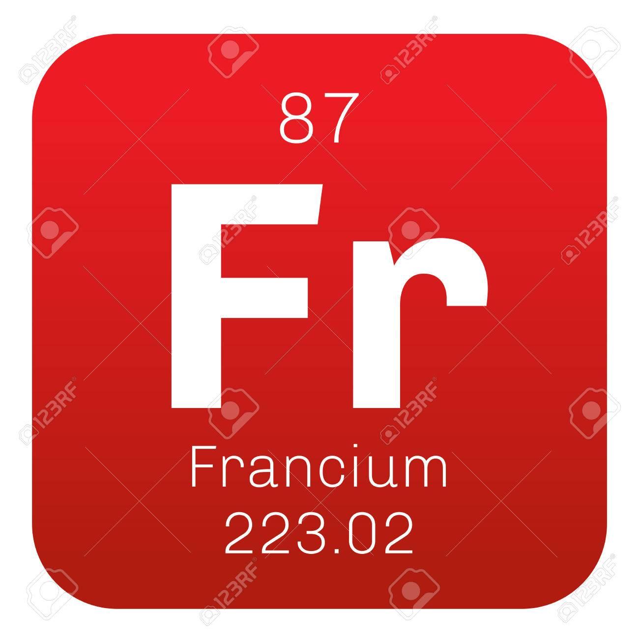 Elemento qumico francio francio es un metal altamente radiactivo elemento qumico francio francio es un metal altamente radiactivo icono de color con el urtaz Choice Image