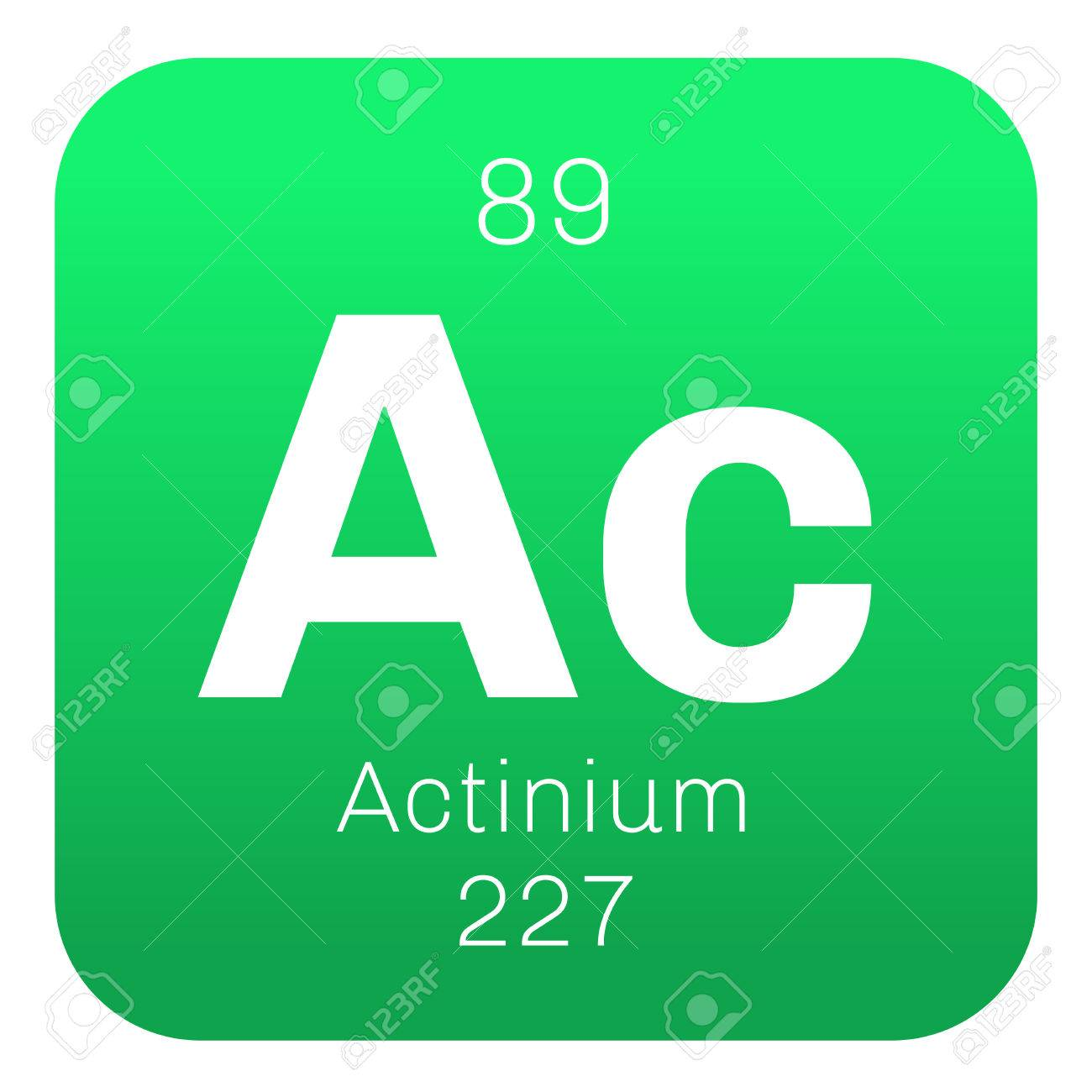 Actinium chemical element radioactive chemical element colored actinium chemical element radioactive chemical element colored icon with atomic number and atomic weight urtaz Image collections