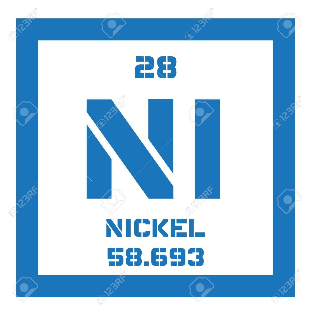 Nickel chemical element transition metal colored icon with nickel chemical element transition metal colored icon with atomic number and atomic weight buycottarizona Images