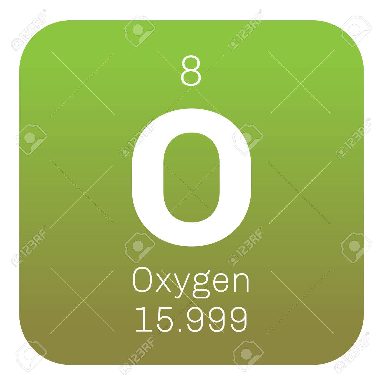 Oxygen chemical element highly reactive nonmetal and oxidizing oxygen chemical element highly reactive nonmetal and oxidizing agent colored icon with atomic number buycottarizona Image collections