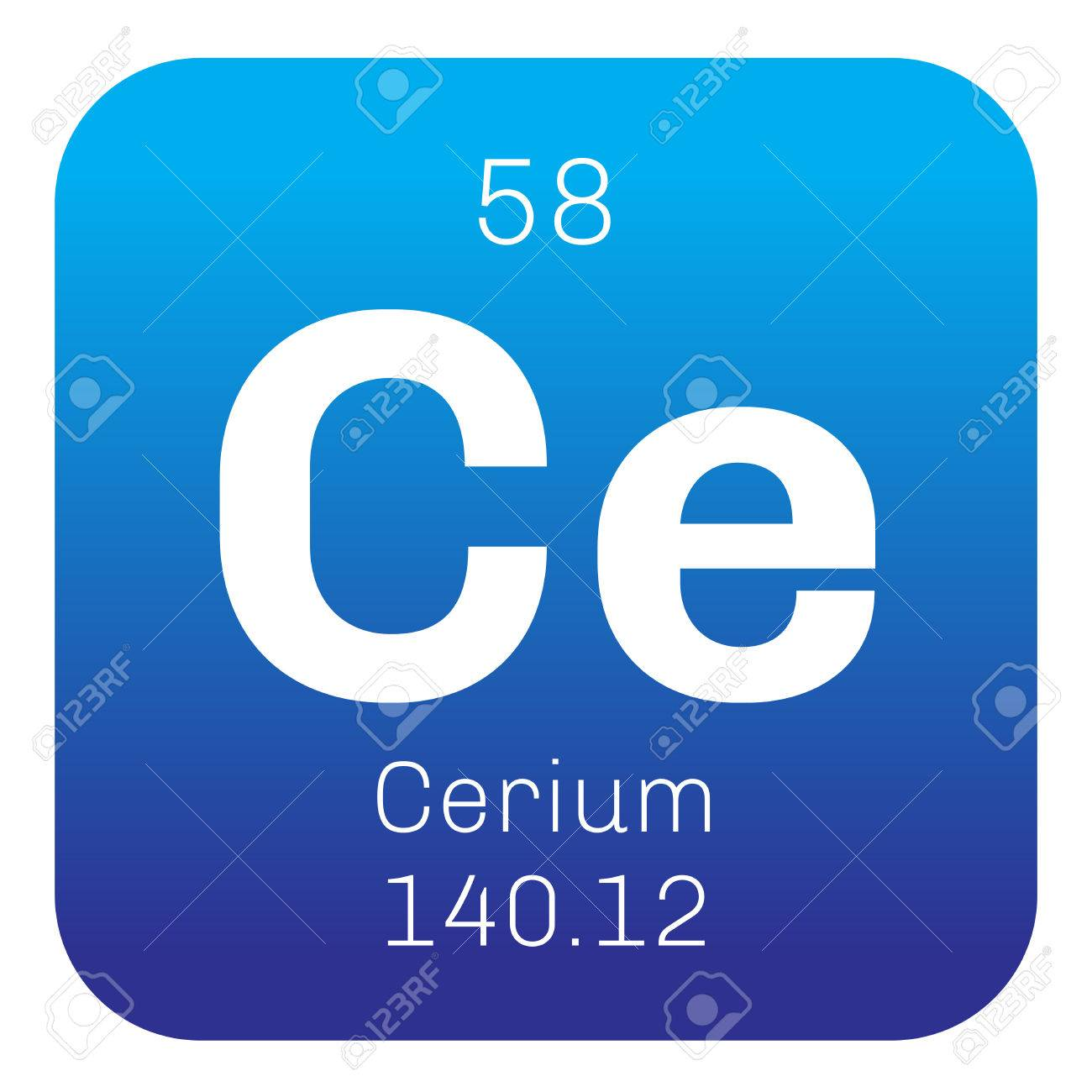 Cerium chemical element most common of the lanthanides colored chemical element of periodic table cerium chemical element most common of the lanthanides colored icon with atomic number and urtaz Image collections