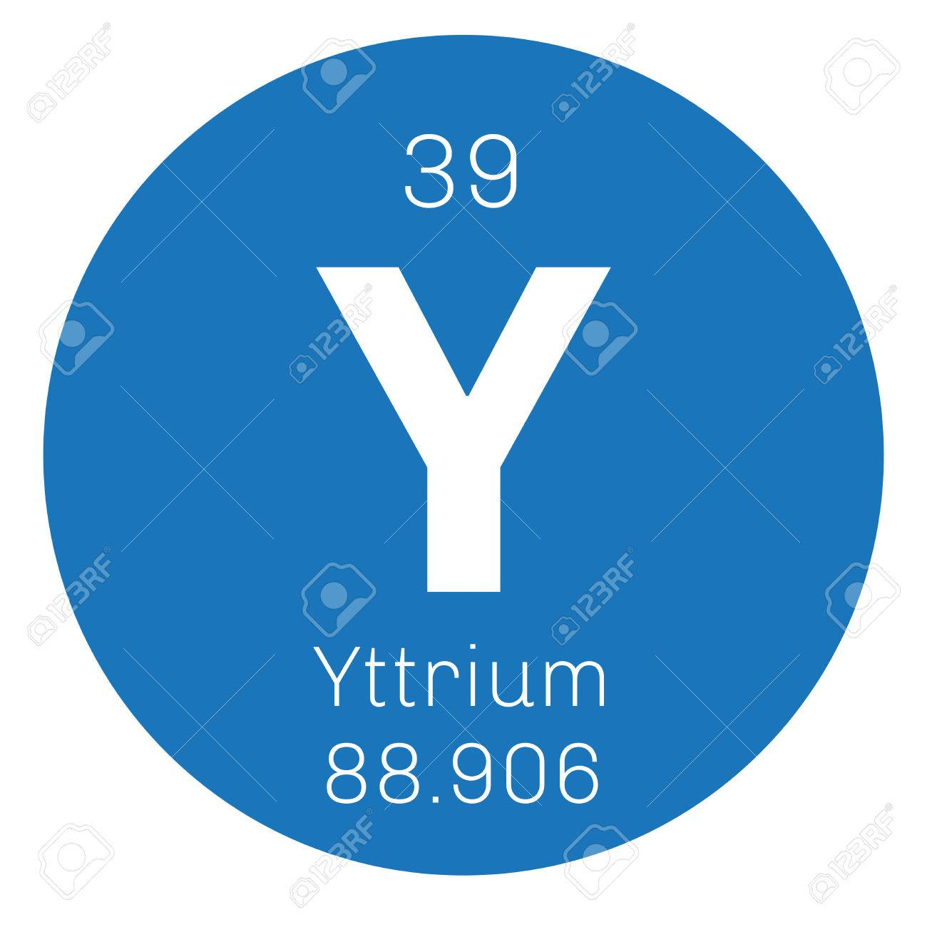 Yttrium chemical element transition metal rare element colored vector yttrium chemical element transition metal rare element colored icon with atomic number and atomic weight chemical element of periodic table urtaz Choice Image