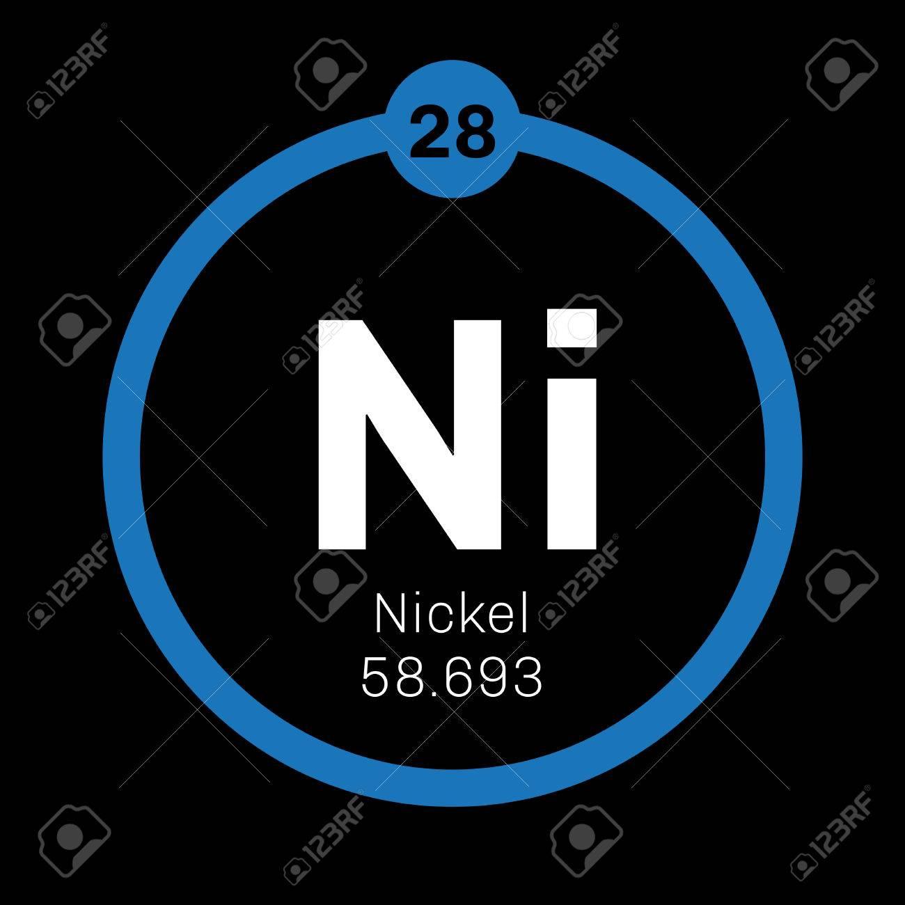 Nickel chemical element transition metal colored icon with nickel chemical element transition metal colored icon with atomic number and atomic weight urtaz Choice Image