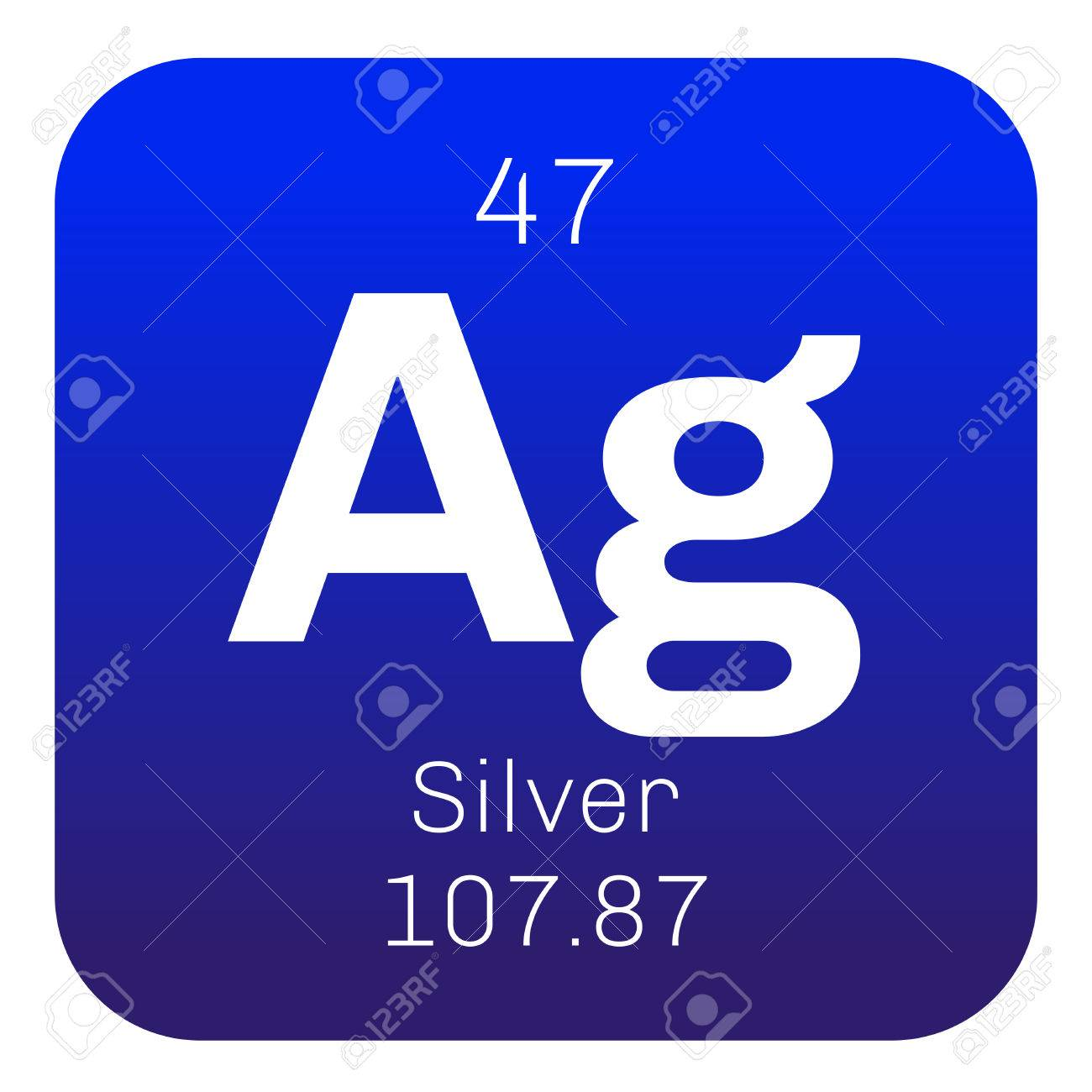 Elemento qumico de plata metal precioso icono de color con el elemento qumico de plata metal precioso icono de color con el nmero atmico y urtaz Choice Image