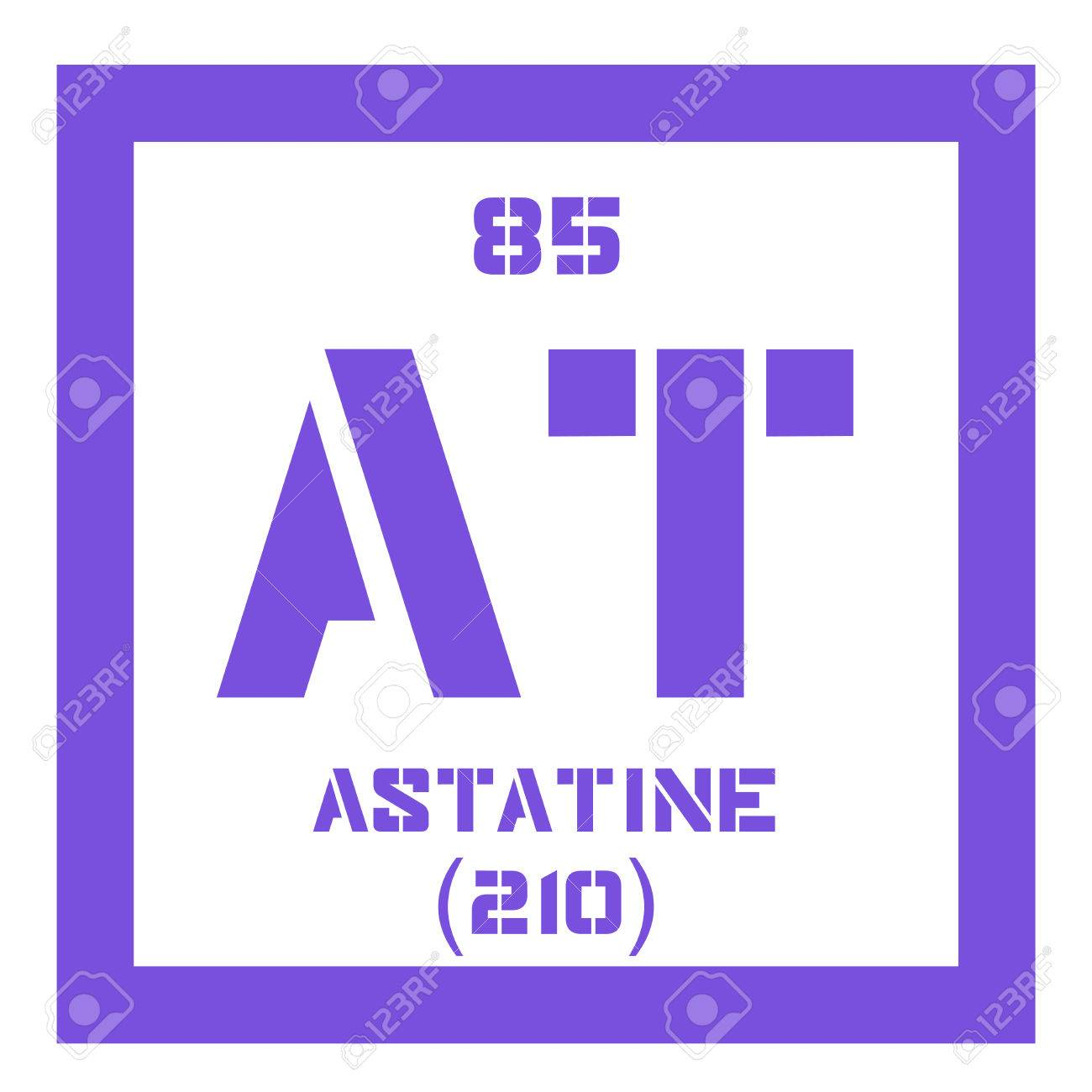 Astatine chemical element radioactive chemical element colored astatine chemical element radioactive chemical element colored icon with atomic number and atomic weight urtaz Image collections