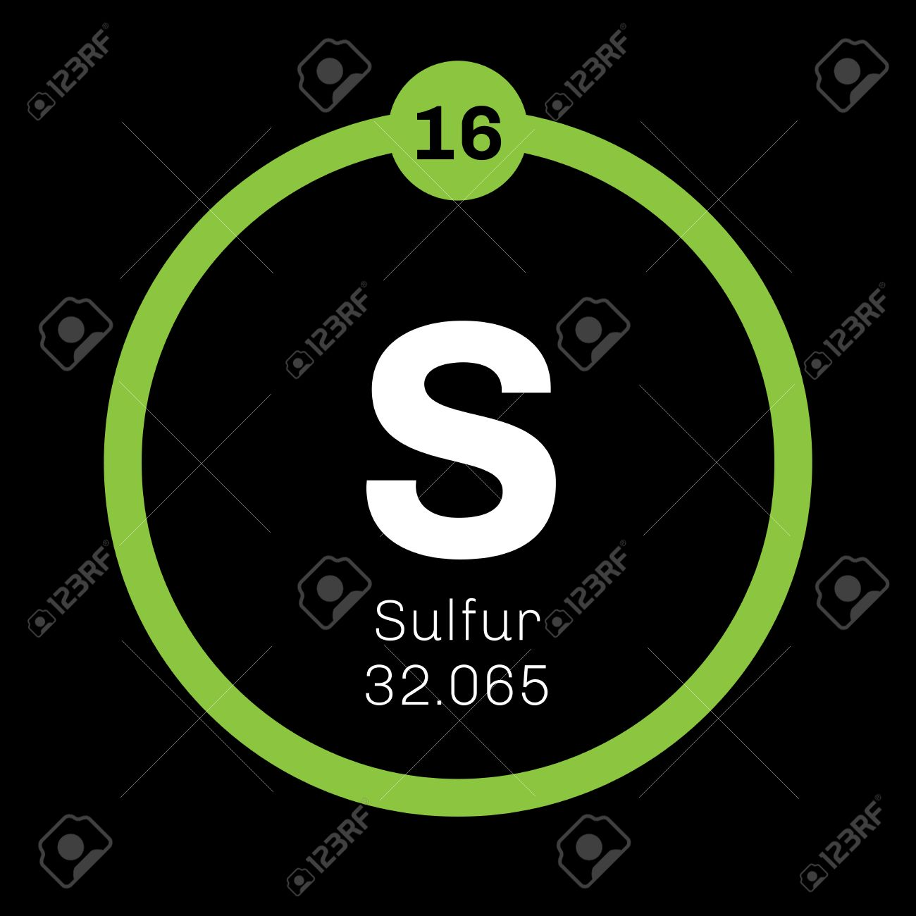Sulfur Chemical Element Abundant Non Metal Element Colored