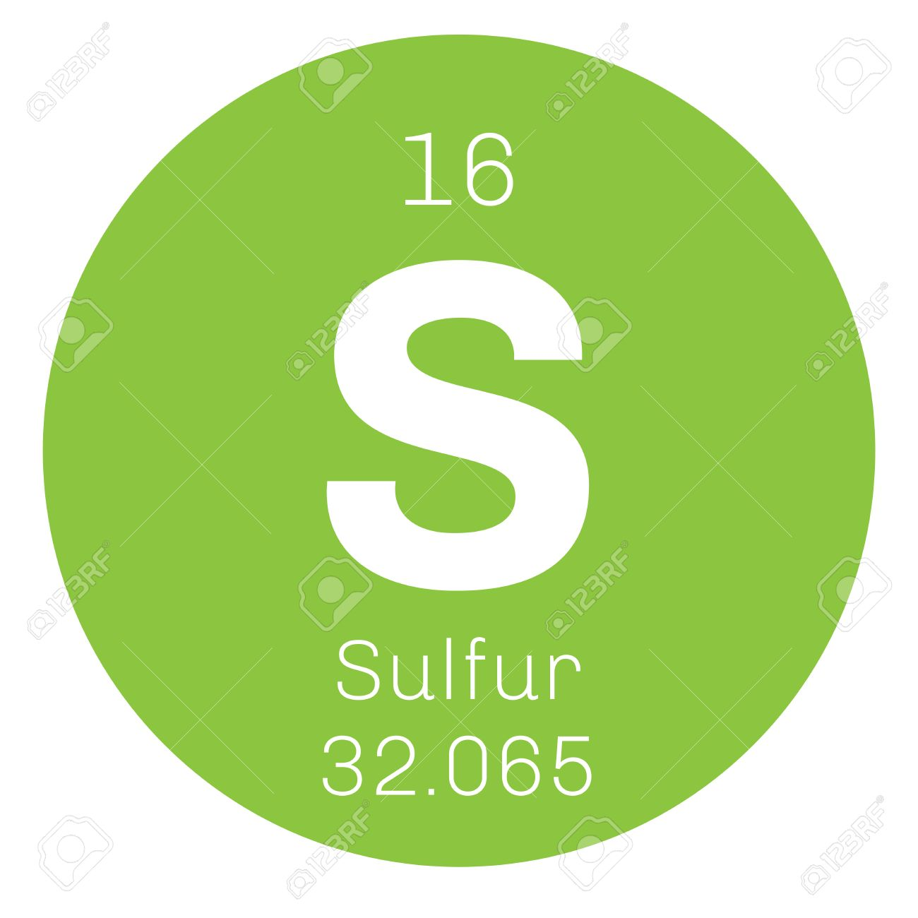 Sulfur chemical element abundant non metal element colored sulfur chemical element abundant non metal element colored icon with atomic number and urtaz Gallery