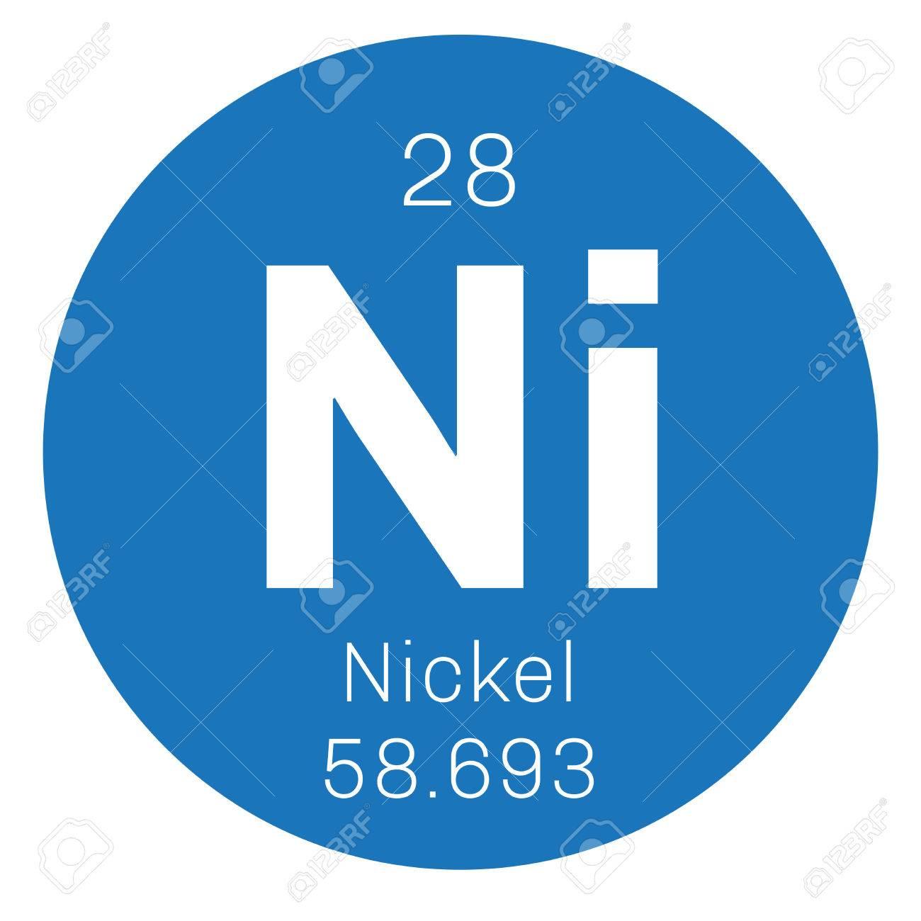 Elemento qumico de nquel metal de transicin icono de color con elemento qumico de nquel metal de transicin icono de color con el nmero atmico urtaz Images