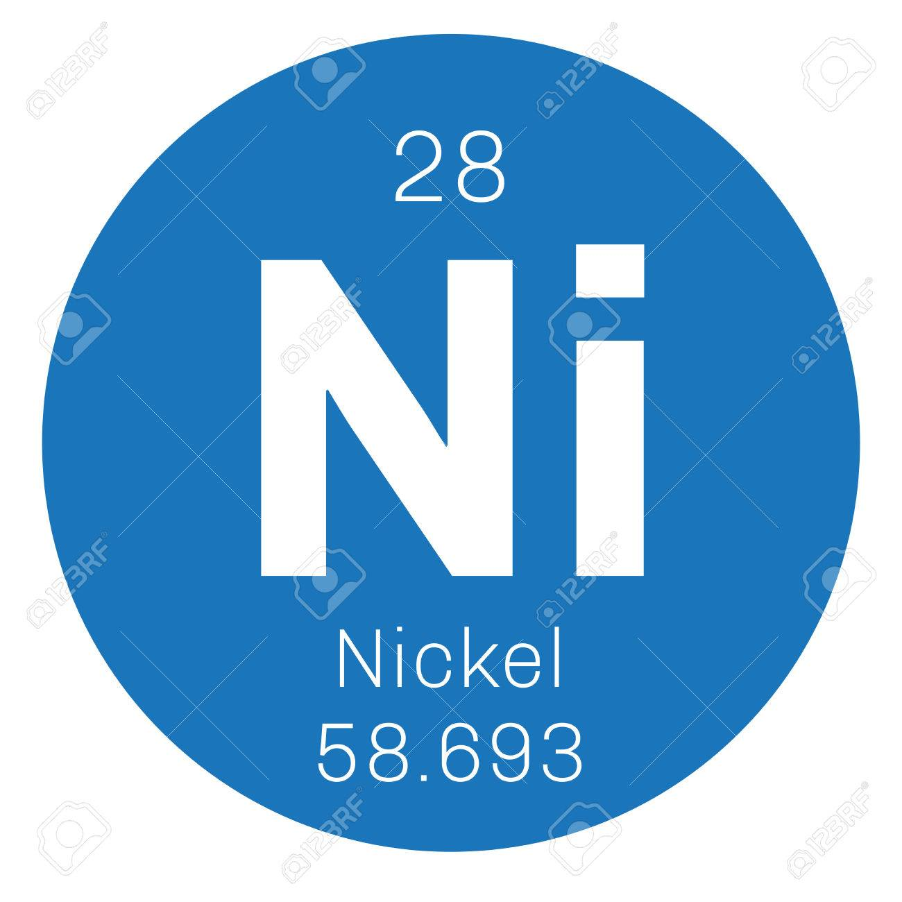 Nickel chemical element transition metal colored icon with nickel chemical element transition metal colored icon with atomic number and atomic weight urtaz Gallery