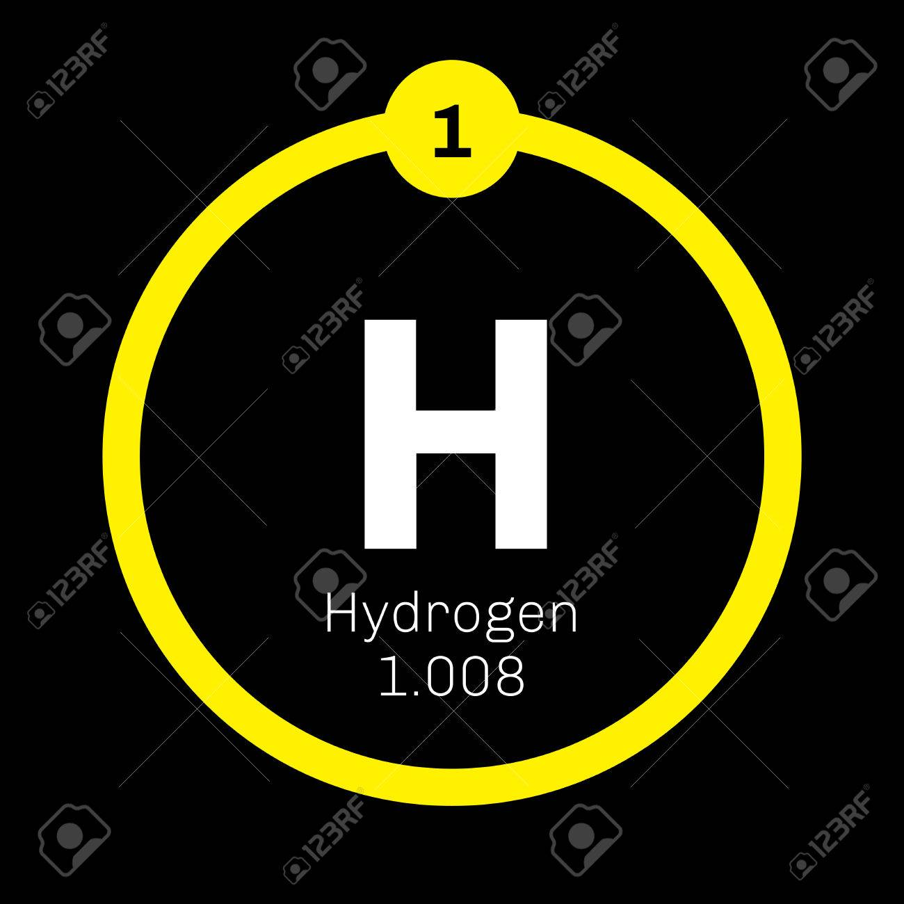 Hydrogen chemical element the lightest element on the periodic hydrogen chemical element the lightest element on the periodic table colored icon with atomic urtaz Choice Image