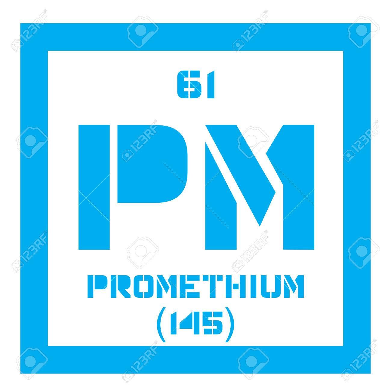 Prometio elemento qumico elemento radiactivo icono de color con foto de archivo prometio elemento qumico elemento radiactivo icono de color con el nmero atmico y el peso atmico elemento qumico de la tabla urtaz Image collections