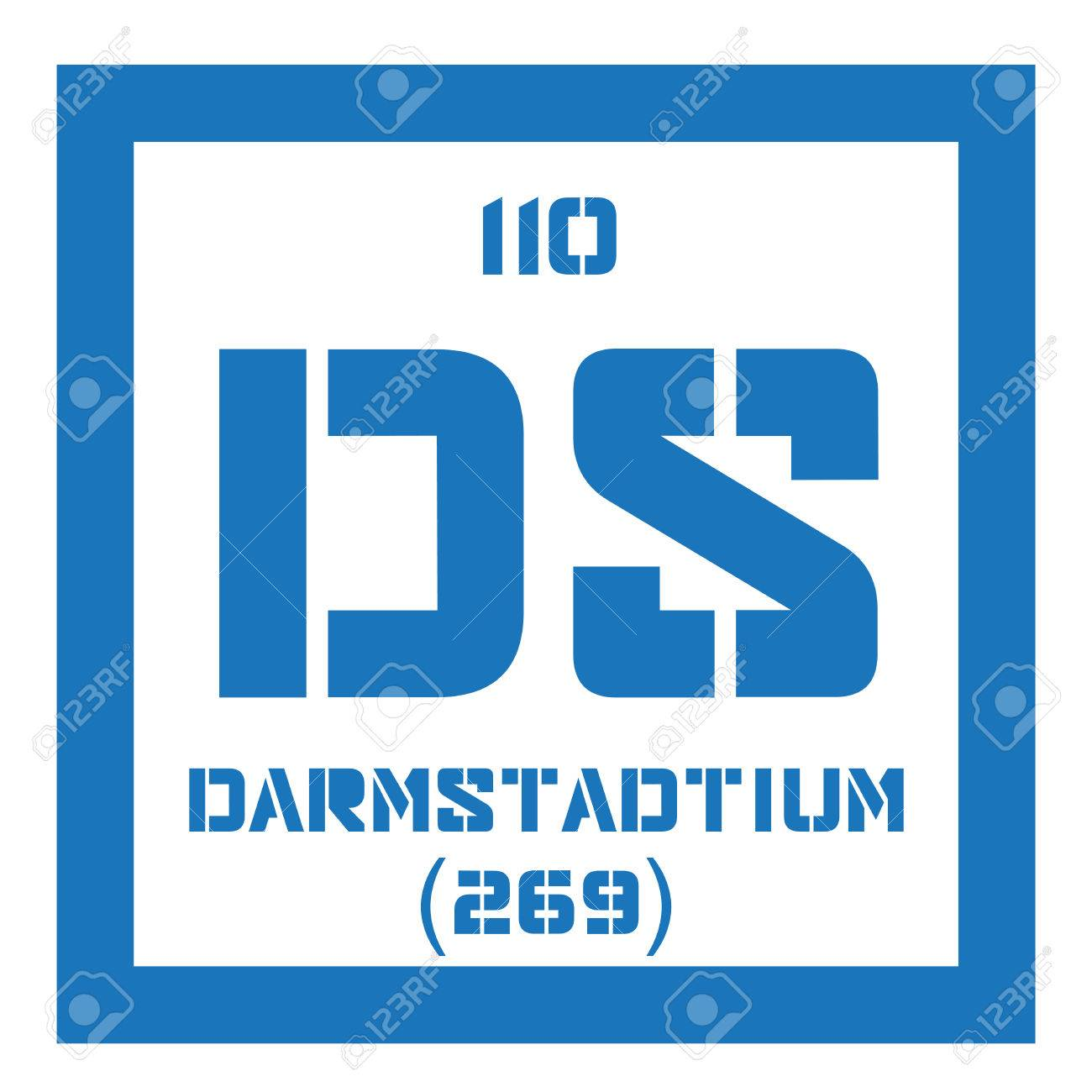 Darmstadtium chemical element extremely radioactive synthetic chemical element of periodic table darmstadtium chemical element extremely radioactive synthetic element colored icon with atomic number and atomic urtaz Gallery
