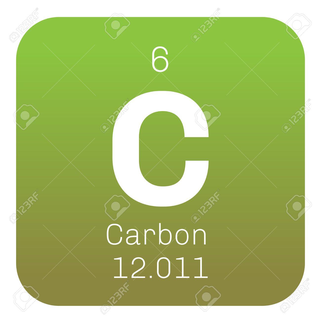 Carbono elemento qumico el grafito y el diamante icono de color carbono elemento qumico el grafito y el diamante icono de color con el nmero urtaz Choice Image