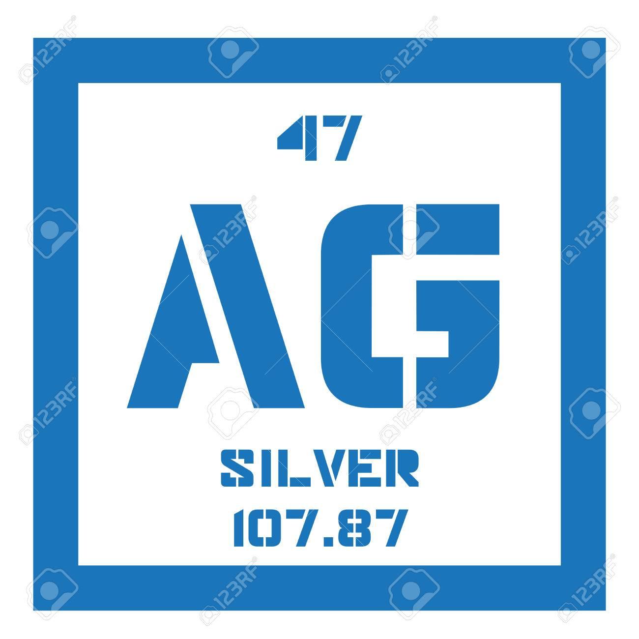 Elemento qumico de plata metal precioso icono de color con el tabla peridica elemento qumico de plata metal precioso icono de color con el nmero atmico y urtaz Gallery