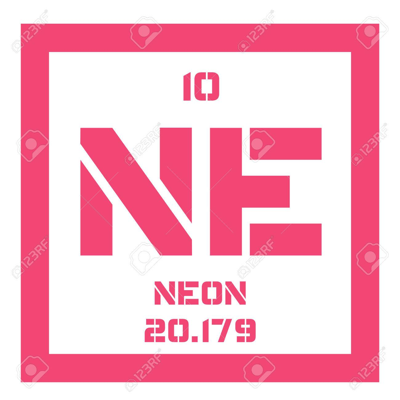 neon chemical element belongs to noble gases group of the periodic table colorless - Periodic Table Of Elements Neon