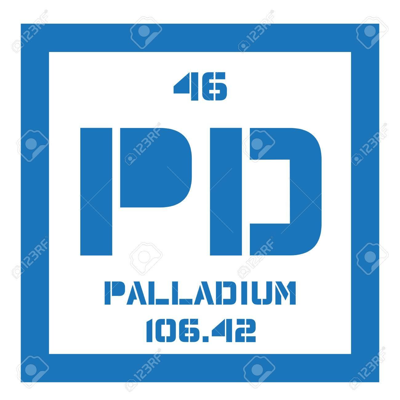 Palladium elemento qumico pertenece a los metales del grupo del pertenece a los metales del grupo del platino icono de color con el nmero atmico y el peso atmico elemento qumico de la tabla peridica urtaz Choice Image