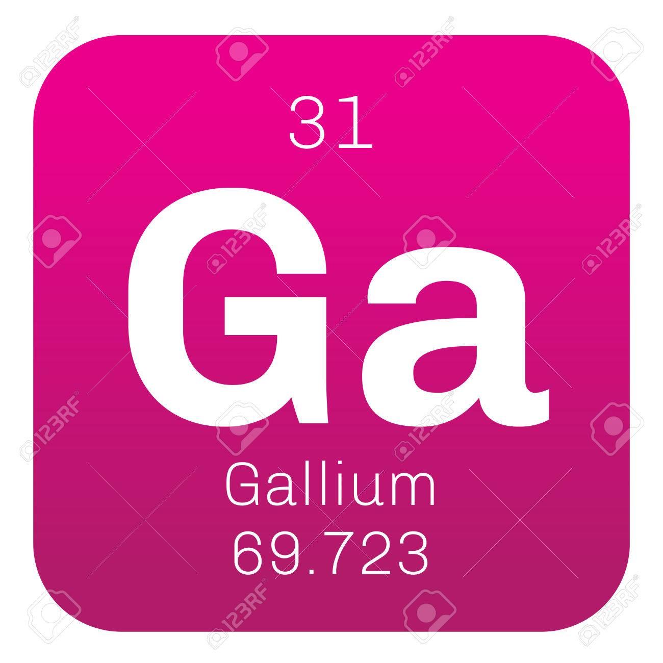 El galio elemento qumico utilizado en la electrnica icono de el galio elemento qumico utilizado en la electrnica icono de color con el nmero urtaz Choice Image