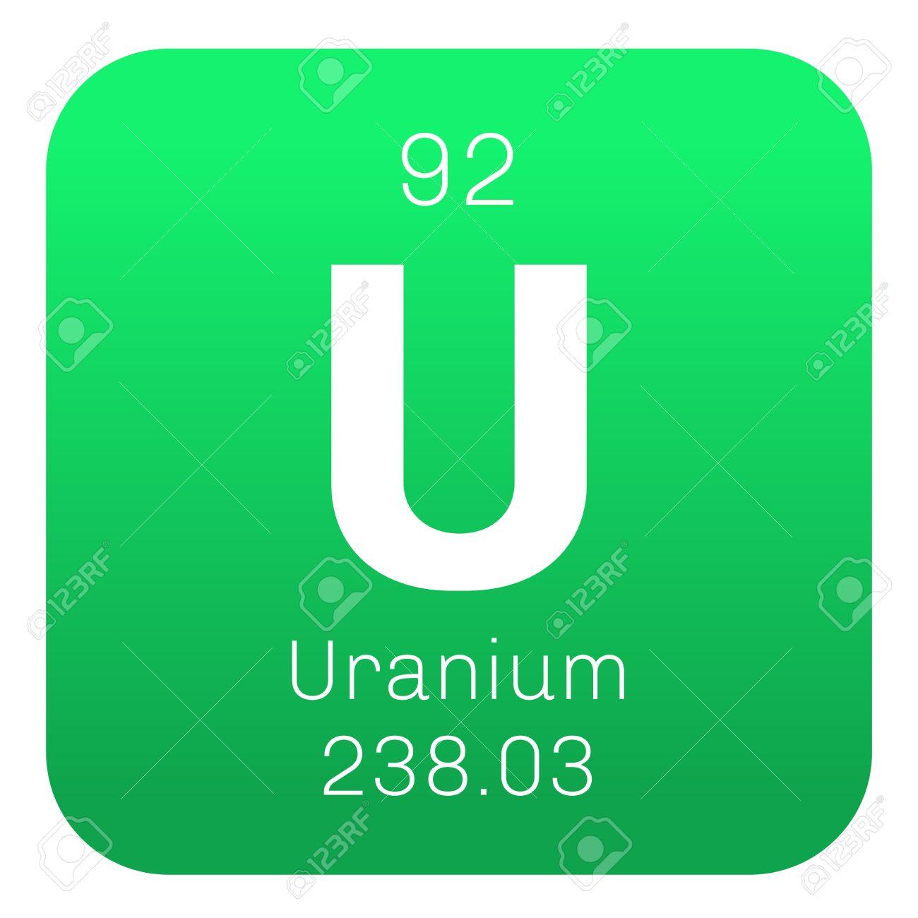 Uranium chemical element uranium is weakly radioactive metal uranium chemical element uranium is weakly radioactive metal colored icon with atomic number and gamestrikefo Choice Image