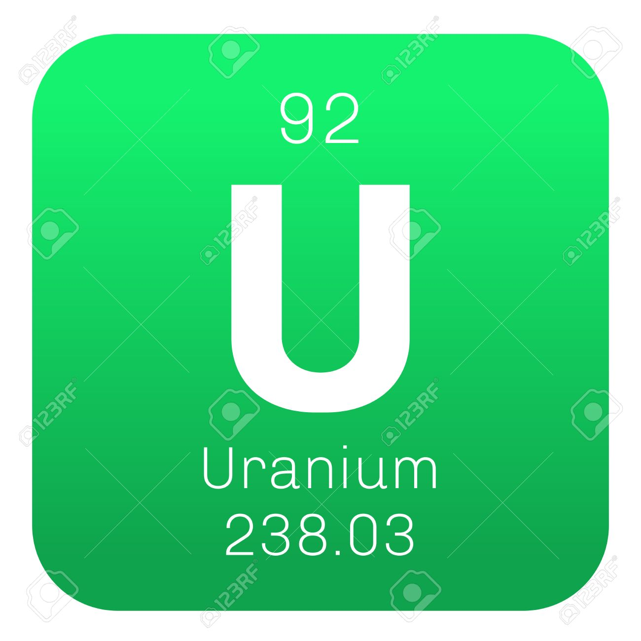 Uranium chemical element uranium is weakly radioactive metal uranium chemical element uranium is weakly radioactive metal colored icon with atomic number and buycottarizona Gallery