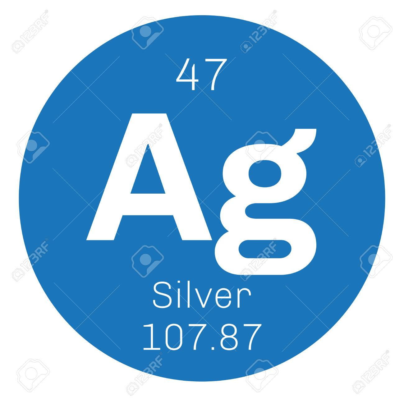 Silver chemical element precious metal colored icon with atomic silver chemical element precious metal colored icon with atomic number and atomic weight buycottarizona