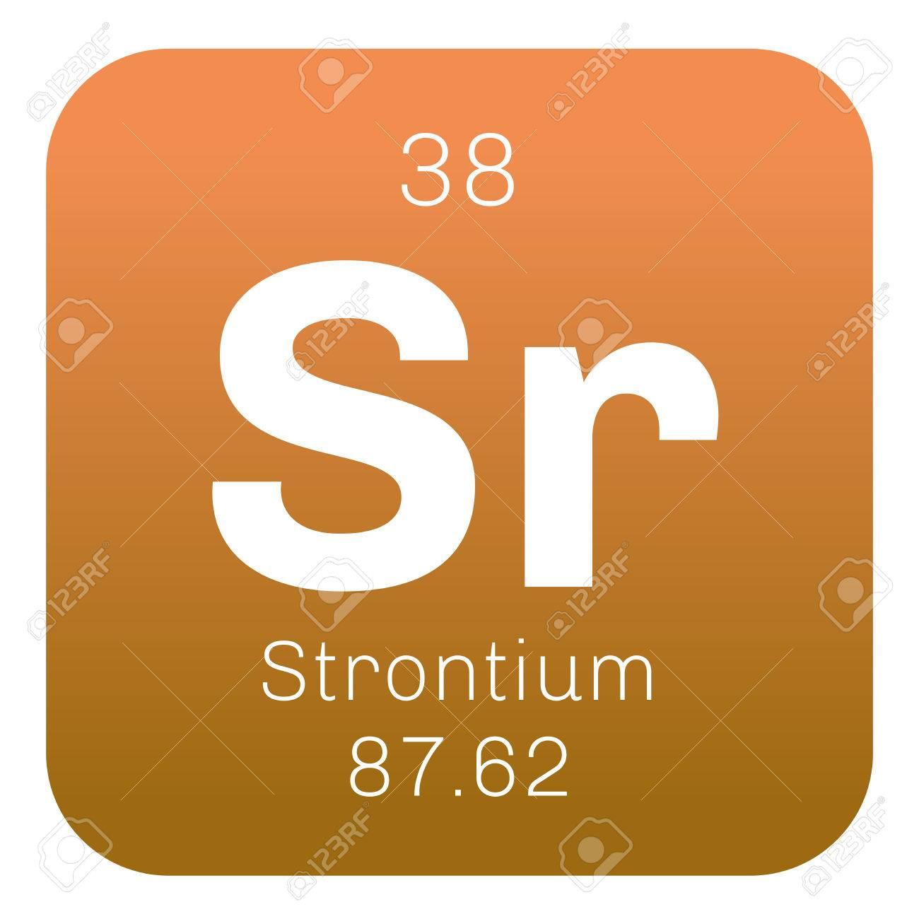 Strontium chemical element an alkaline earth metal colored strontium chemical element an alkaline earth metal colored icon with atomic number and atomic urtaz Gallery